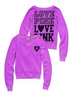 Victoria Secret Pink Signature Crew $ 39.50