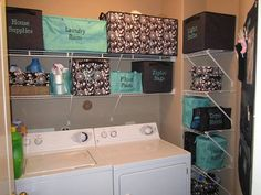 Laundry Room Thirty-One Style Organization with style! Join my FB group, just click the pic!