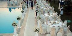 inset grass in trellis design on. Derek's wedding at the Four Seasons Vail . Pool Wedding Decorations, Beach Wedding Centerpieces, Beach Wedding Reception, Beach Wedding Flowers, Lakeside Wedding, Wedding Ceremony, Destination Wedding, Wedding Venues, Wedding Planning