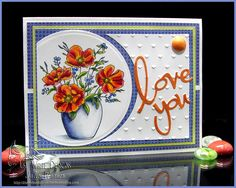 Julie Warner – http://thewritestuff.justwritedesigns.com - Poppies, Flowers & Leaves- Y06, Y15, R00, R02, R22, R27, R35, R46, R89, , B21, B24, B28,YG01, YG25,YG45, G28 Vase: B60, B63, BV20, BV25, C00, C1, C3