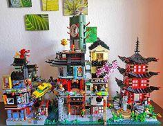 Lego Ninjago City, Lego City, Legos, City Layout, Lego Building Blocks, Lego Games, All Lego, Lego Worlds, Lego Architecture