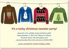 ugly sweater party invitations office ugly christmas sweater party invitation tacky party sweater xmas 22 best sweater party invitations images on pinterest