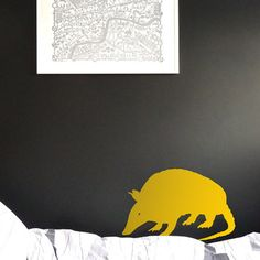 ANIMAL Tatoo WALL DECAL  Small Tatoo sniffing around by Citystic, $9.00