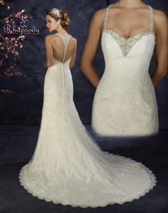 Beautiful back detail on this wedding gown by  Symphony Bridal Collections