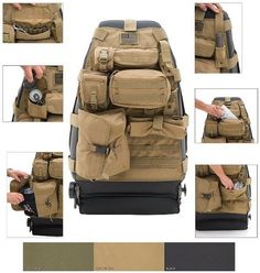 Wow these are cool Tactical Seat Cover TACTICAL SEAT COVERS FRONT AND REAR ON SALE!
