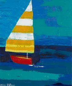 inspo for the 100 day project Nautical Art, Canvas Crafts, Art Plastique, Acrylic Art, Painting Inspiration, Canvas Frame, Landscape Paintings, Wall Art Prints, Art Projects