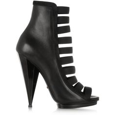 Gucci Elasticated leather ankle boots (€890) ❤ liked on Polyvore featuring shoes, boots, ankle booties, heels, boots/booties, short black boots, black platform boots, high heel ankle boots, high heel boots и black leather ankle booties