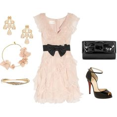 Blush & Black, created by rebecca-horn on Polyvore