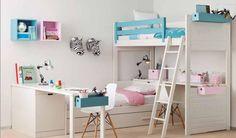 Dormitorio juvenil : camas literas / Bunk beds http://www.decorhaus.es/es/ #muebles #Málaga #furniture
