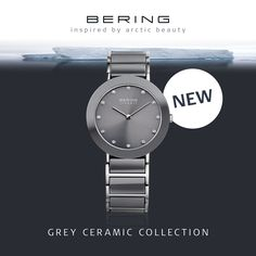 Our shades of grey; Ceramic Collection; BERING watch; Women's watch