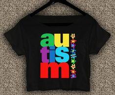 Autism+Awareness+T-Shirt+Autism+Awareness+Crop+Top+Autism+Awareness+Crop+Tee+A#01