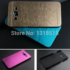 Lujo brushed metal de aluminio + material de la pc phone case para samsung galaxy grand prime g530 g530h g531 g531h back case cubierta