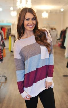Dottie Couture Boutique -  Color Block Sweater, $68.00 (http://www.dottiecouture.com/color-block-sweater-1/)