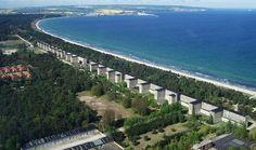Prora - Cité balnéaire de 10 000 appartements sur l'île de Rügen, Nord de l'Allemagne. Jamais occupée.