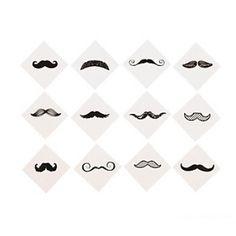 "Mustache ""Fingerstache"" temporary tattoos"