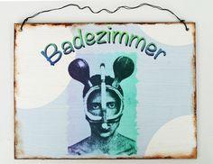 Namens- & Türschilder - Türschild Badezimmer - ein Designerstück von Un-Art-Tick bei DaWanda