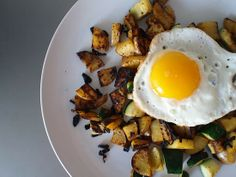 Zucchini and Potato Hash