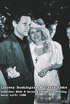 Love this picture of Lindsey Buckingham and Stevie Nicks in 1988 at Mick Fleetwood's wedding (shared via http://dickdash.tumblr.com)