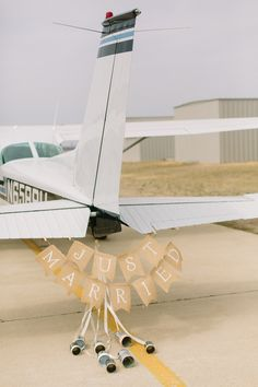Photography: Apryl Ann Photography - www.aprylann.com Read More: http://www.stylemepretty.com/2014/08/19/texas-airport-elopement-at-denton-municipal-airport/