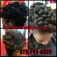 Great hairstyles at Hair Tamers Studio in Baton Rouge. Pin up styles , Soft bouncy curls , healthy hair , short waves , feather cuts , natural hair in Baton Rouge