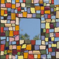 Mirror Mosaic Broken Plates - In Color Mosaic Mirror by Red Crow Arts via Etsy