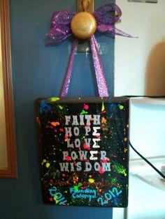 Would be such a good door hanger craft for sisterhood.