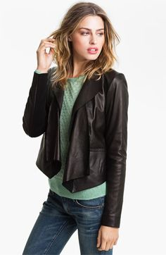 Trouvé Draped Leather Jacket $298 at Nordstrom