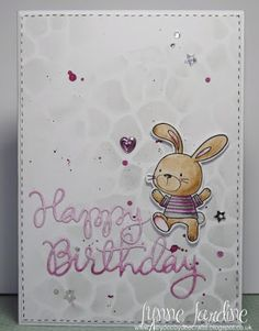 Ruby-Dooby-Doo Crafts: An ombre Birthday Bunny