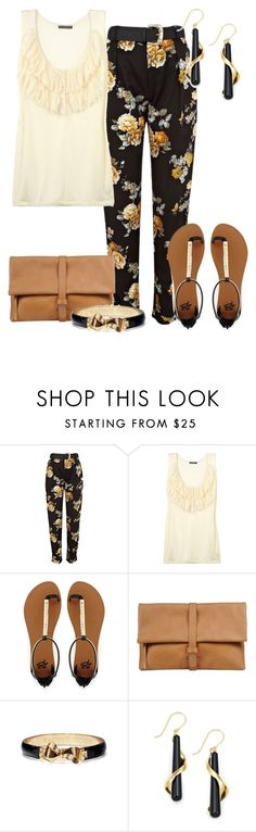 """""""PANTALONES ESTAMPADOS"""" by outfits-de-moda2 ❤ liked on Polyvore featuring River Island, Alexander McQueen, 2b bebe, MM6 Maison Margiela and Rachel Leigh"""