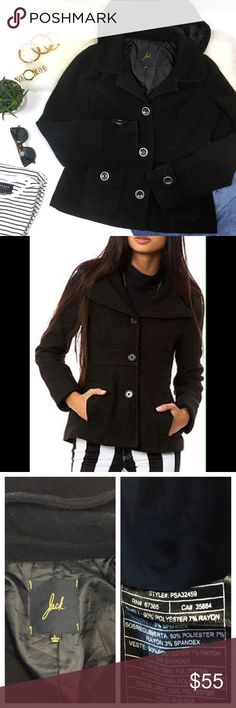 """✨SUPER SALE✨ JACK - Cypress Hooded Peacoat The sweetest comfy pea coat! Feels like a hoodie but looks chic! Perfect to transition into spring, lighter weight than a winter coat. It warm enough to keep you cozy on cool spring days.  Excellent pre-loved condition, no flaws, mild pilling over entire jacket. Runs small/junior sizing. Approx. Measurements  Bust: 20"""" Length: 24"""" 🛍Bundle & Save 20% on 2+ items! 🙅🏼No trades / selling off of Posh.  ✨Offers always welcome!✨ Jack by BB Dakota…"""