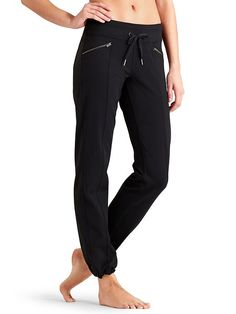 Love these pants. Good mix of somewhat tailored and relaxed. Could wear them for exercise, errands, park with this kiddos, or around the house.