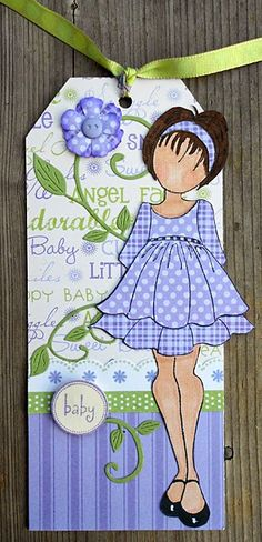 Baby Gift Tag - Julie Nutting/Prima Paper Doll
