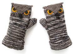 owl gloves diy-crafts