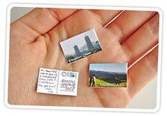Cómo hacer postales en miniatura.