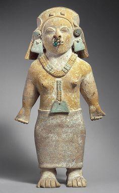 Standing figure, 1st–5th century Ecuador; Jama Coaque Ceramic