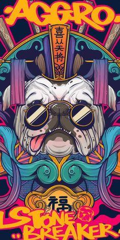 Pop Art Wallpaper, Graffiti Wallpaper, Cartoon Wallpaper, Graffiti Art, Graphic Artwork, Illustrations And Posters, Doodle Art, Japanese Art, Art Pictures