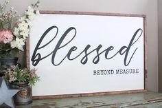 Blessed Beyond Measure 2'x3' Framed Sign