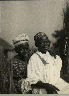 """""""Fulani Boys, 1950s Vintage Nigeria More on africanstories.tumblr.com"""" from the way the caps are styled and designed I really don't think the caption is correct, these boys are not Fulani."""