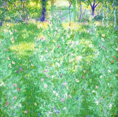 Theodore Earl Butler - Summer Garden with Sweet Peas, Giverny American Impressionism, Impressionist, Summer Garden, Light Art, Door Design, American Art, Butler, Landscape Paintings, Oil On Canvas