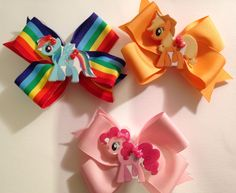 My little pony bows I made :) Lil Mama's Bow-tique