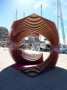 The PortHole: Anamorphic pavilion for the Living Architecture Festival by TOMA Architects | TODODESIGN by ARQ4DESIGN #pavilionarchitecture