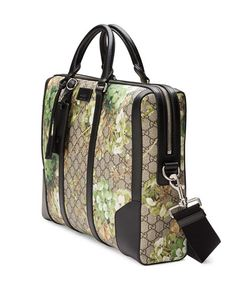 N3HHD Gucci GG Blooms Printed Canvas Briefcase, Multi