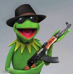Inglourious Muppets: Kermit decried by German authorities Miss Piggy, Jim Henson, Sapo Kermit, Reaction Pictures, Funny Pictures, Les Muppets, Sapo Meme, Frog Wallpaper, Frog Art