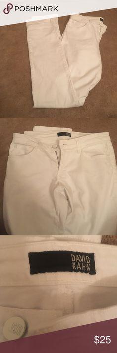 White bootleg jeans White David Kahn Bootleg Jeans David Kahn Jeans Boot Cut