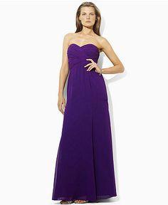 Lauren Petite Dress, Strapless Gown - Womens Petite Dresses - Macy's