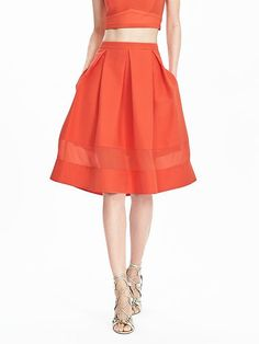 Timo Weiland Collection Coral Full Skirt | Banana Republic