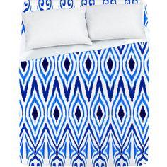 Amy Sia Ikat Blue Sheet Set