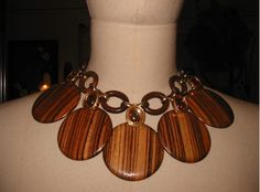 YSL wooden necklace