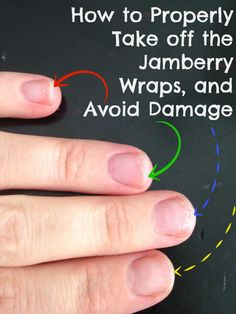 How to Properly Take off Jamberry Nail Wraps