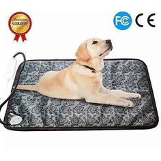 RIOGOO Pet Heating Pad Large Dog Cat Electric Heating Pad Indoor Waterproof Adjustable Warming Mat with Chew Resistant Steel Cord 28 in >>> Continue to the product at the image link. (This is an affiliate link) Online Pet Supplies, Dog Supplies, Pet Dogs, Dog Cat, Pets, Diy Dog Kennel, Aggressive Dog, Dog Accessories